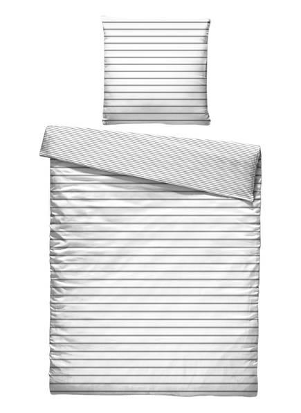 EB HOME Bettwäsche, Farbe: WEISS/ GRAU GESTREIFT (Bild 1)