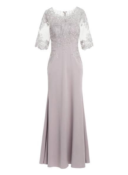 MASCARA Abendkleid mit 3/4-Arm und Spitzenbesatz, Farbe: HELLGRAU (Bild 1)