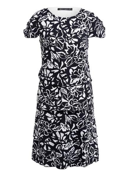 Betty Barclay Kleid mit Volantsbesatz, Farbe: DUNKELBLAU/ WEISS (Bild 1)
