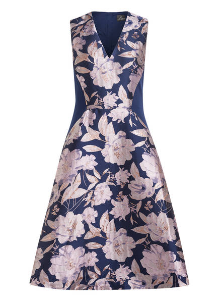 ADRIANNA PAPELL Jacquard-Kleid, Farbe: DUNKELBLAU/ GRAU/ ROSA (Bild 1)