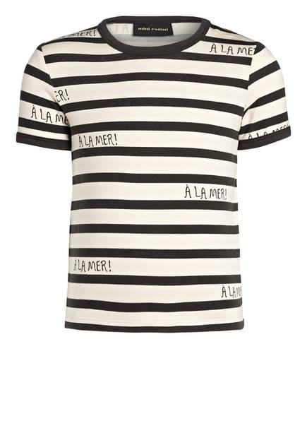 mini rodini T-Shirt, Farbe: CREME/ DUNKELGRAU GESTREIFT (Bild 1)