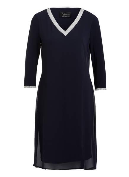 FRANK LYMAN Kleid mit ¾-Arm und Schmucksteinbesatz, Farbe: DUNKELBLAU (Bild 1)