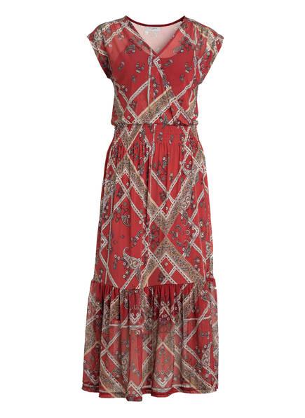 FREEQUENT Kleid, Farbe: ROT/ BEIGE/ HELLBLAU (Bild 1)
