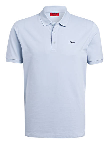 HUGO Piqué-Poloshirt DONOS Regular Fit, Farbe: HELLBLAU (Bild 1)