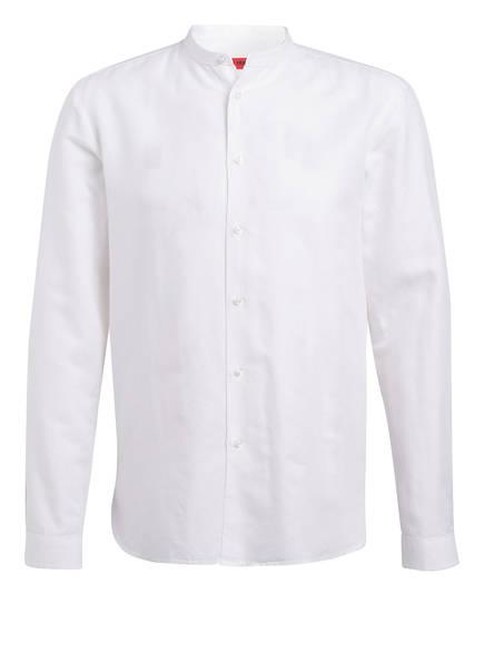 HUGO Hemd EDDISON Regular Fit mit Leinen, Farbe: WEISS (Bild 1)