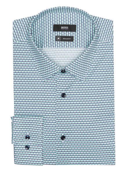 BOSS Hemd ELIOTT Slim Fit, Farbe: BLAU/ HELLGRÜN/ CREME (Bild 1)