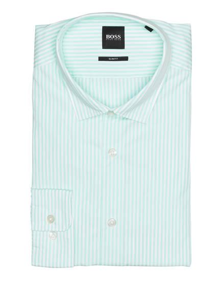 BOSS Hemd RIKKI Slim Fit, Farbe: ECRU/ HELLGRÜN GESTREIFT (Bild 1)