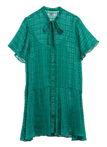 Freebird Hemdblusenkleid mit Spitzenbesatz, Farbe: GRÜN (Bild 1)