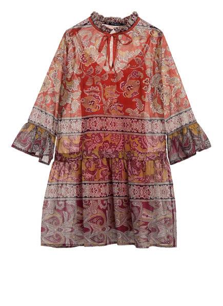 ana alcazar Kleid mit 3/4-Arm , Farbe: DUNKELORANGE/ DUNKELGELB/ BRAUN (Bild 1)
