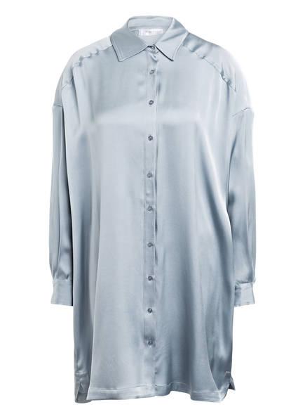 ANINE BING Hemdblusenkleid AUBREY aus Seide, Farbe: BLAUGRAU (Bild 1)