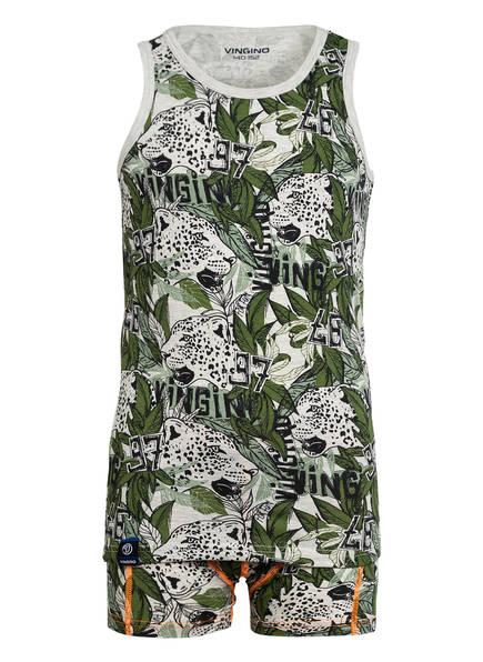 VINGINO Shorty-Schlafanzug, Farbe: HELLGRAU/ GRÜN (Bild 1)