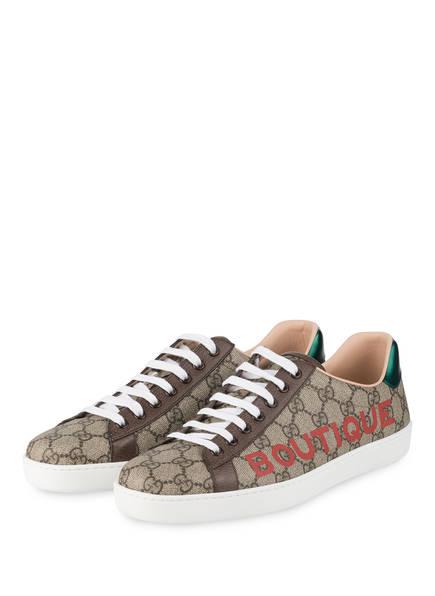 GUCCI Sneaker ACE GG SUPREME, Farbe: 8660 BEIGE EBO.RED/N.A/VE (Bild 1)