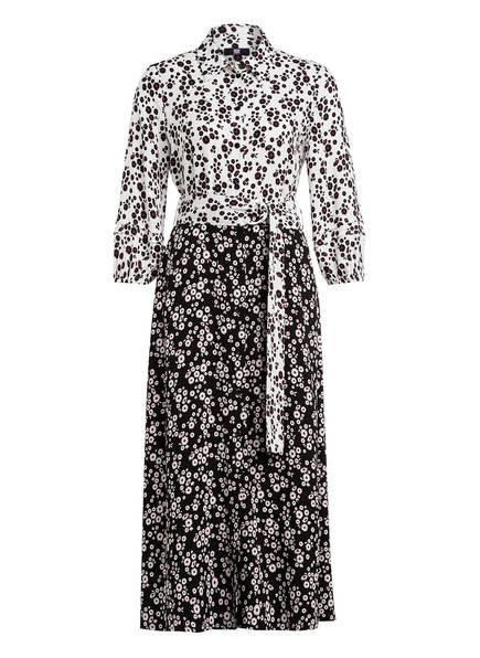 RIANI Hemdblusenkleid mit 3/4-Arm, Farbe: WEISS/ SCHWARZ/ ROT (Bild 1)