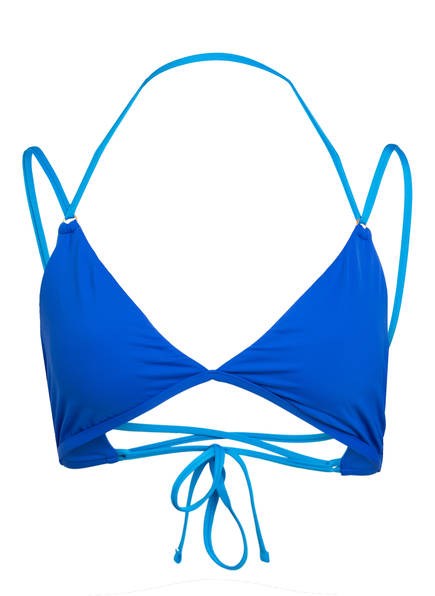 POLO RALPH LAUREN Triangel-Bikini-Top MODERN SOLIDS, Farbe: BLAU (Bild 1)