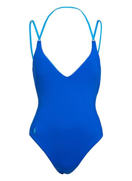 POLO RALPH LAUREN Badeanzug MODERN SOLIDS, Farbe: BLAU (Bild 1)
