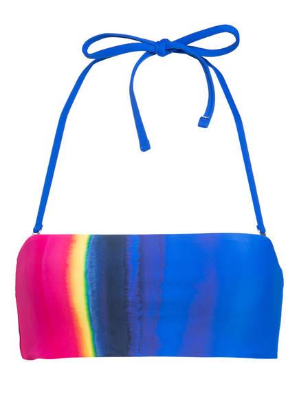 POLO RALPH LAUREN Bandeau-Bikini-Top DIP DYE, Farbe: BLAU/ PINK/ GELB (Bild 1)
