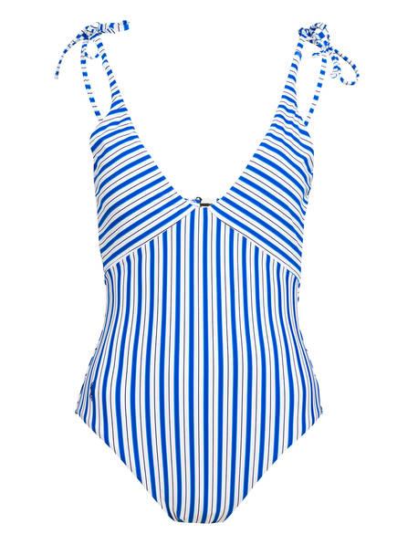POLO RALPH LAUREN Badeanzug COASTAL STRIPE, Farbe: BLAU/ WEISS (Bild 1)