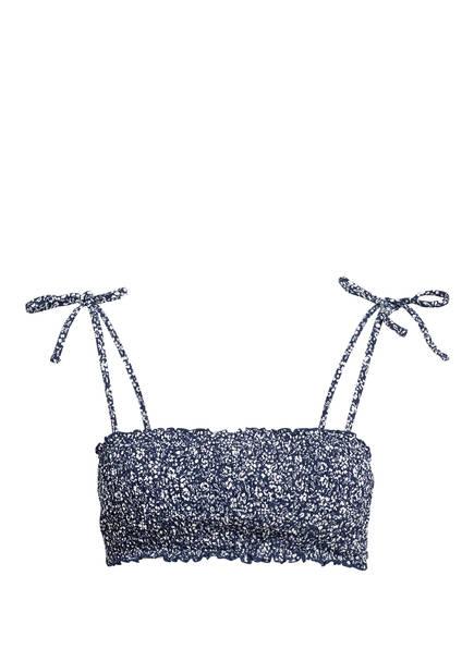 POLO RALPH LAUREN Bandeau-Bikini-Top SPROUTING FLORAL , Farbe: DUNKELBLAU/ WEISS (Bild 1)
