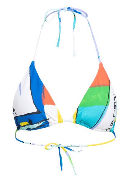 POLO RALPH LAUREN Triangel-Bikini-Top SCENIC PRINT , Farbe: BLAU/ ROT/ GELB (Bild 1)