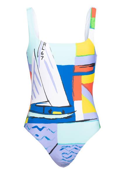 POLO RALPH LAUREN Badeanzug SCENIC PRINT , Farbe: BLAU/ ROT/ GELB (Bild 1)