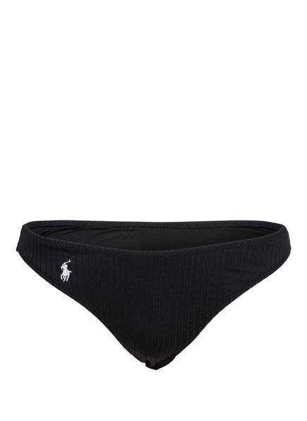 POLO RALPH LAUREN Bikini-Hose RIBBED SOLIDS, Farbe: SCHWARZ (Bild 1)