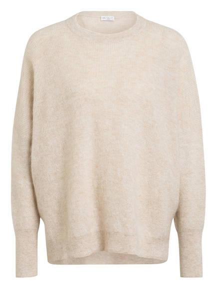 BRUNELLO CUCINELLI Overszied-Pullover mit Glitzergarn, Farbe: CREME (Bild 1)