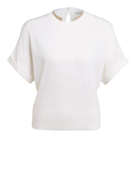 BRUNELLO CUCINELLI Strickshirt mit Schmucksteinbesatz, Farbe: ECRU (Bild 1)