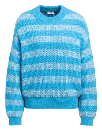 CLOSED Pullover, Farbe: TÜRKIS/ WEISS (Bild 1)