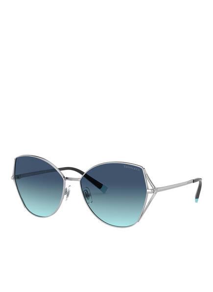 TIFFANY & Co. Sunglasses Sonnenbrille TF3072, Farbe: 60019S - SILBER/ BLAU VERLAUF (Bild 1)