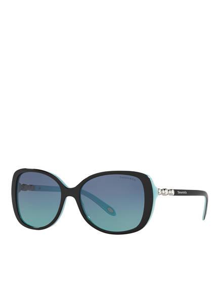 TIFFANY & Co. Sunglasses Sonnenbrille TF 4121B mit Schmucksteinbesatz, Farbe: 80559S - SCHWARZ/ BLAU VERLAUF (Bild 1)