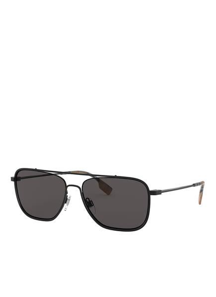 BURBERRY Sonnenbrille BE3112, Farbe: 100787 - MATT SCHWARZ/ GRAU (Bild 1)