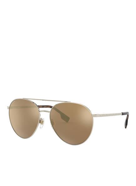 BURBERRY Sonnenbrille BE3115, Farbe: 11092T - GOLD/ HELLBRAUN POLARISIERT (Bild 1)