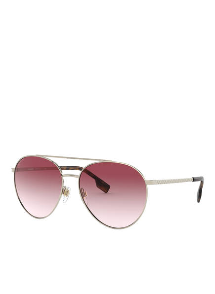 BURBERRY Sonnenbrille BE3115, Farbe: 11098D - GOLD/ PINK VERLAUF (Bild 1)