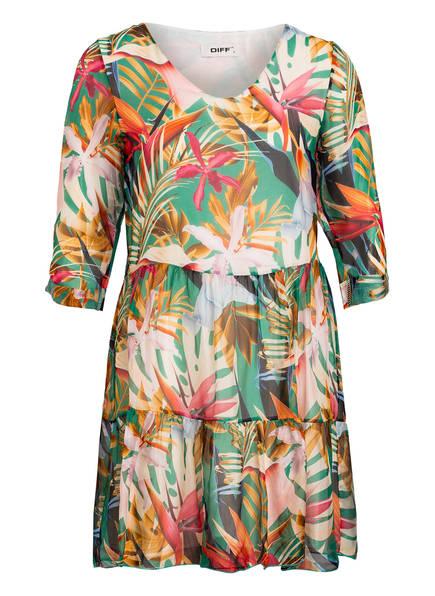 DIFF' Kleid mit Seide und 3/4-Arm, Farbe: GRÜN/ PINK/ SCHWARZ (Bild 1)