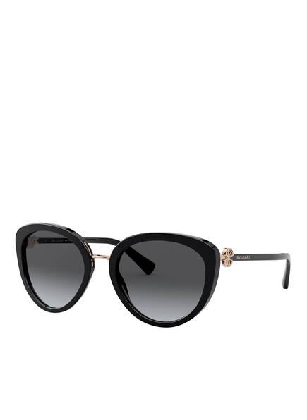 BVLGARI Sunglasses Sonnenbrille BV8226B, Farbe: 501/T3 - SCHWARZ/ BLAU POLARISIERT (Bild 1)