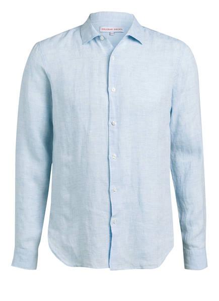 ORLEBAR BROWN Leinenhemd GILES Tailored Fit, Farbe: HELLBLAU MELIERT (Bild 1)