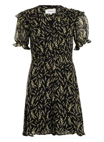 ba&sh Kleid MATCHA , Farbe: SCHWARZ/ HELLGELB (Bild 1)