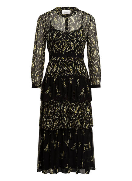 ba&sh Kleid MORRIS mit 3/4-Arm, Farbe: SCHWARZ/ GELB (Bild 1)