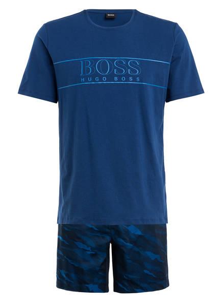 BOSS Shorty-Schlafanzug, Farbe: BLAU (Bild 1)