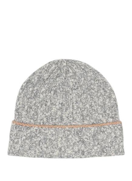 BRUNELLO CUCINELLI Mütze mit Cashmere, Farbe: HELLGRAU/ CREME (Bild 1)
