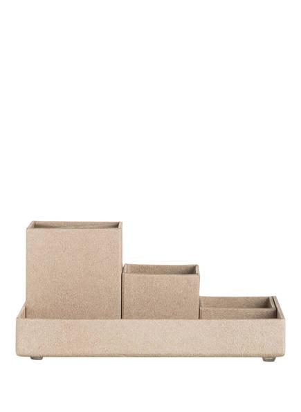 BIGSO BOX OF SWEDEN 4-tlg. Schreibtisch-Organizer Set LENA , Farbe: HELLBRAUN (Bild 1)