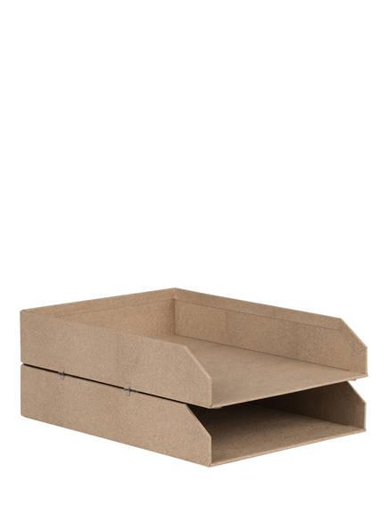 BIGSO BOX OF SWEDEN 2er-Set Dokumentenablage HAKAN, Farbe: HELLBRAUN (Bild 1)