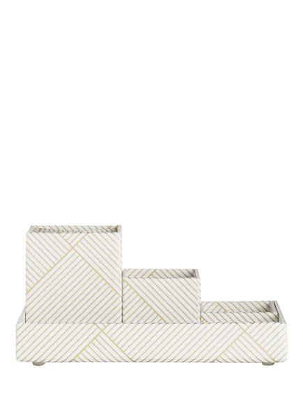 BIGSO BOX OF SWEDEN 4-tlg. Schreibtisch-Organizer Set LENA, Farbe: WEISS/ GOLD (Bild 1)