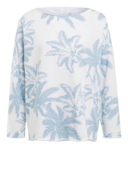 Juvia Sweatshirt , Farbe: WEISS/ HELLBLAU (Bild 1)