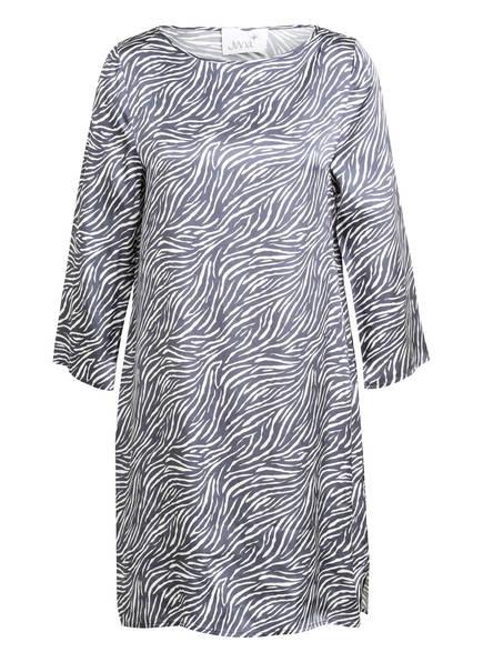 Juvia Kleid mit 3/4-Arm, Farbe: BLAUGRAU/ WEISS (Bild 1)
