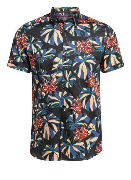 TED BAKER Halbarm-Hemd MANET Slim Fit , Farbe: SCHWARZ/ NUDE/ ROT (Bild 1)