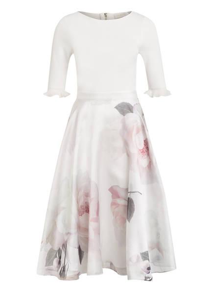 TED BAKER Kleid ILINE mit Spitzenbesatz, Farbe: WEISS/ ROSÈ/ GRÜN (Bild 1)