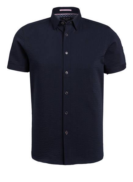 TED BAKER Halbarm-Hemd PRATISS Extra Slim Fit, Farbe: DUNKELBLAU (Bild 1)