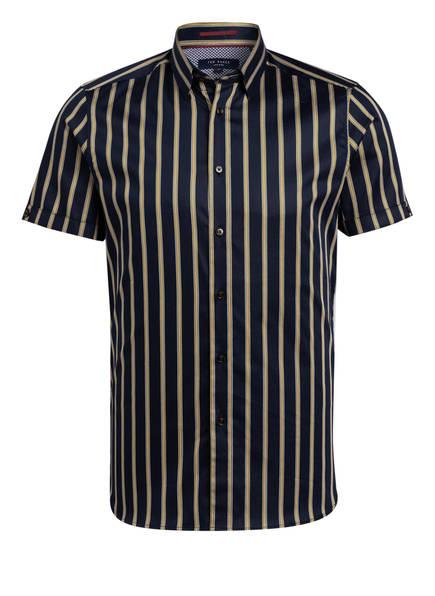 TED BAKER Halbarm-Hemd FREUD Slim Fit, Farbe: DUNKELBLAU/ GELB (Bild 1)