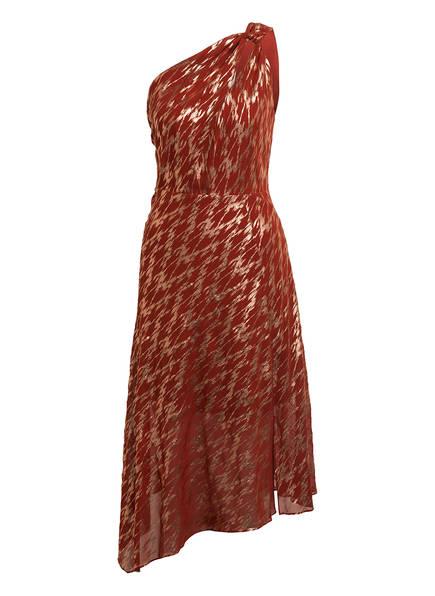 REISS One-Shoulder-Kleid DELILAH mit Glitztergarn , Farbe: DUNKELORANGE/ GOLD (Bild 1)